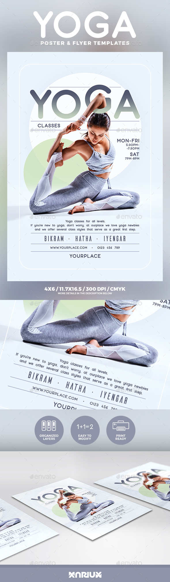 Yoga Flyer and Poster Template - Sports Events