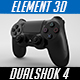 Dualshock 4 - Element 3D v2.2 - 3DOcean Item for Sale