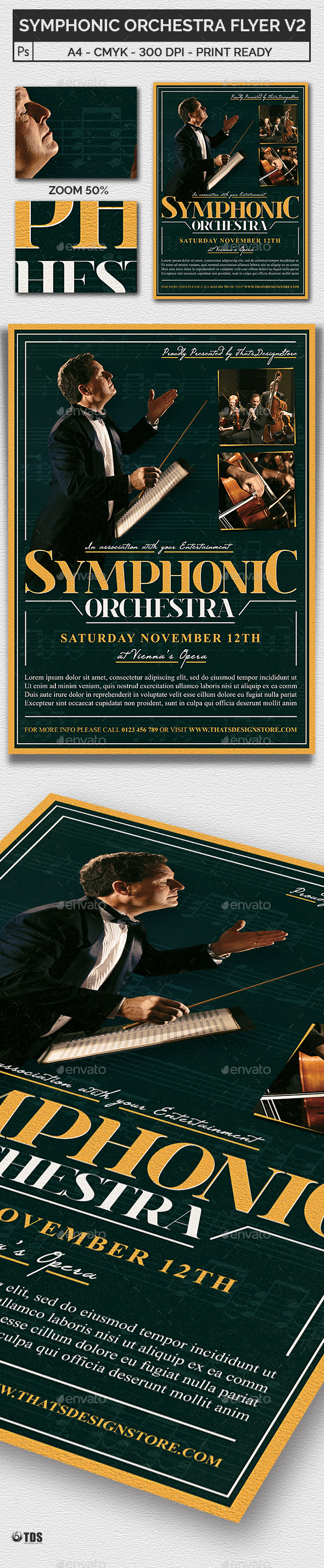 Symphonic Orchestra Flyer Template V2 - Concerts Events