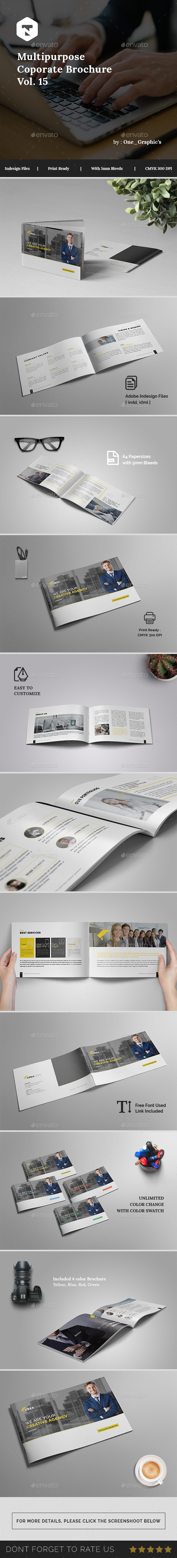 Multipurpose Corporate Brochure Vol. 15 - Brochures Print Templates