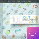 100 Outline Icons (Pixel Perfect) - GraphicRiver Item for Sale