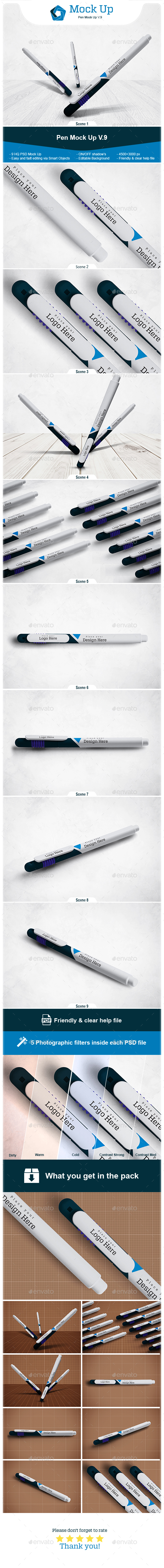 Pen Mock Up V.9 - Stationery Print
