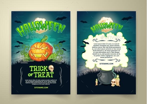 Halloween Party Vector Cartoon Trick or Treat - Halloween Seasons/Holidays