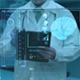 Doctor With Futuristic Screen/ Brain HUD - VideoHive Item for Sale
