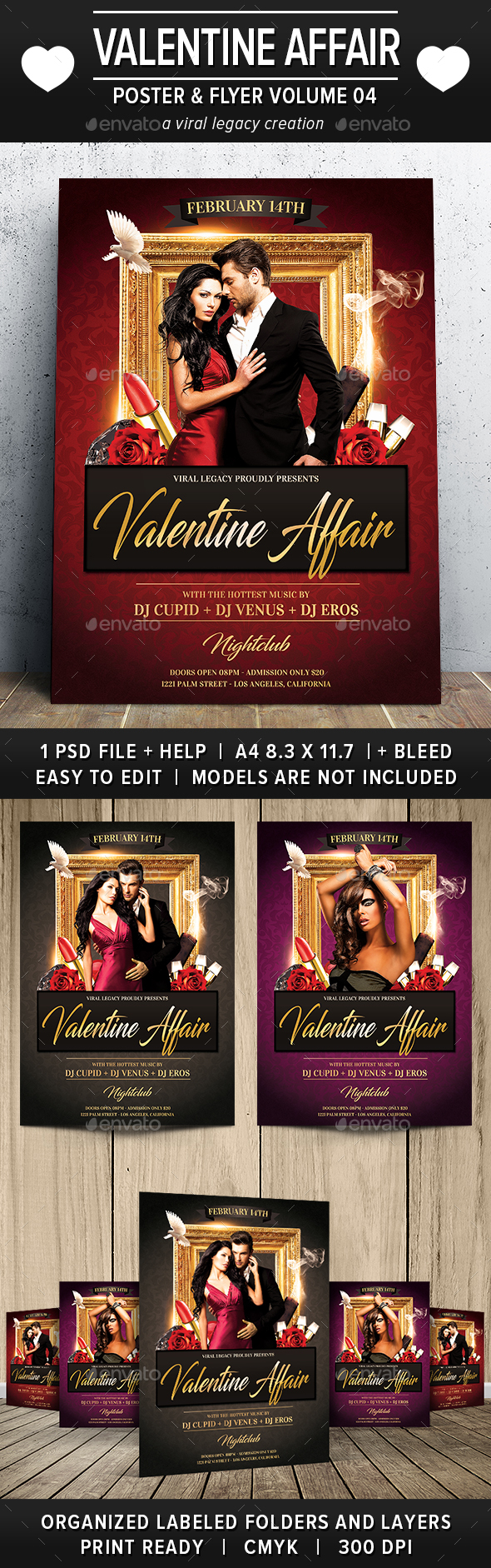 Valentine Affair Poster / Flyer V04 - Flyers Print Templates