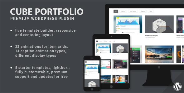 Cube Portfolio - Responsive WordPress Grid Plugin - CodeCanyon Item for Sale