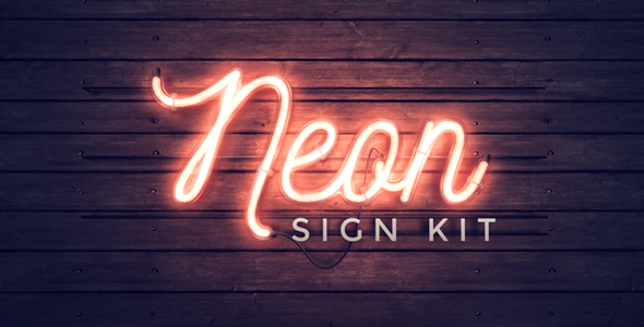Neon sign kit by thomaskovar videohive play preview video thecheapjerseys Gallery