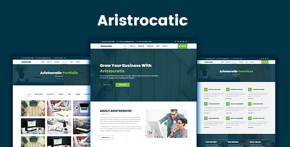 Aristocratic - Multi Purpose Business HTML5 Template