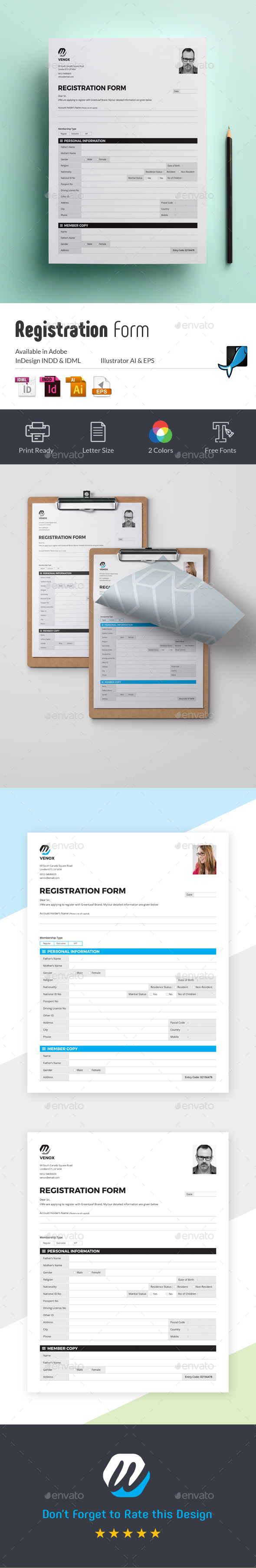 Registration Form - Miscellaneous Print Templates