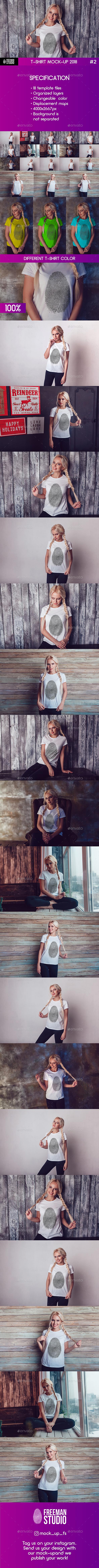 T-Shirt Mock-Up 2018 #2 - T-shirts Apparel