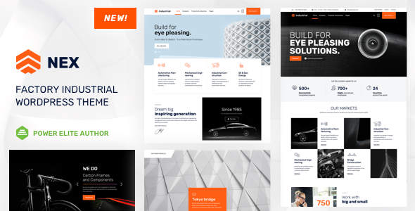Nex - Factory & Industrial WordPress - Business Corporate