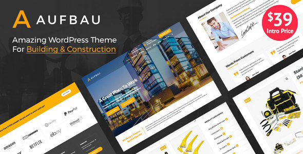 ThemeForest Aufbau Multi-Purpose Building & Construction WordPress Theme 20843288