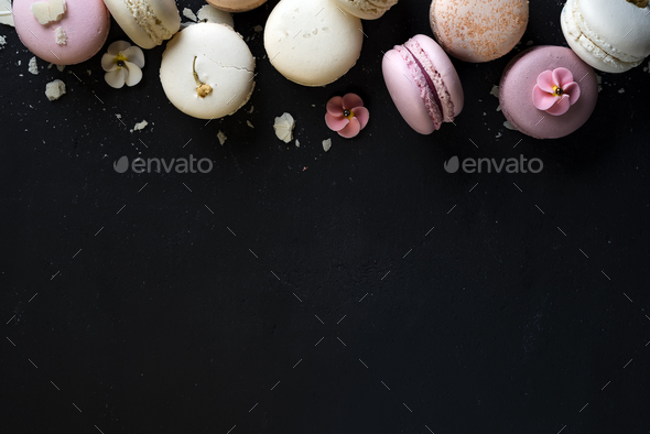 Colorful natural macarons cake - Stock Photo - Images