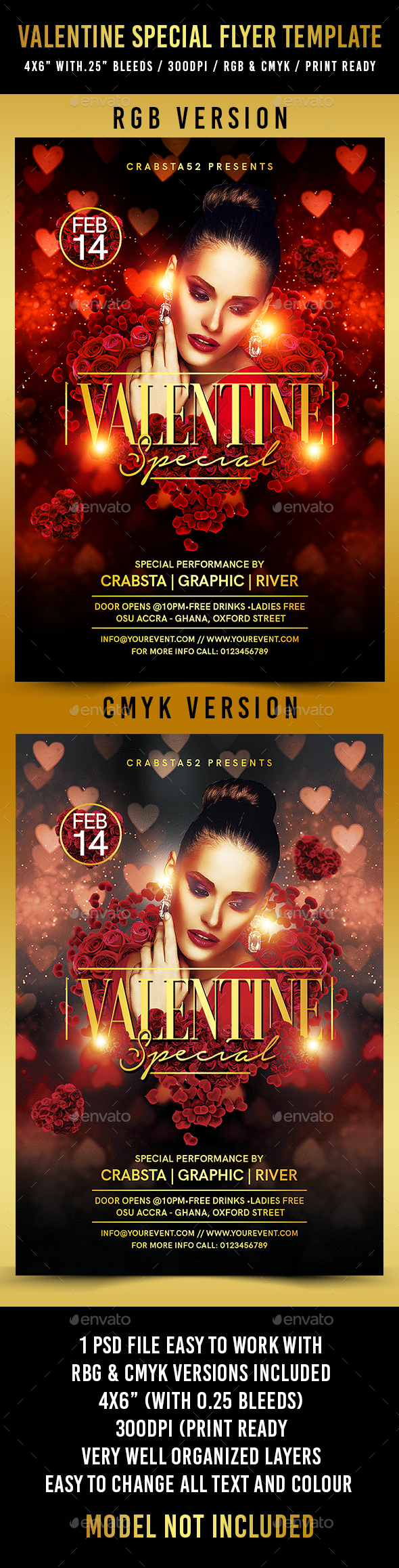 Valentine Special Flyer Template - Flyers Print Templates