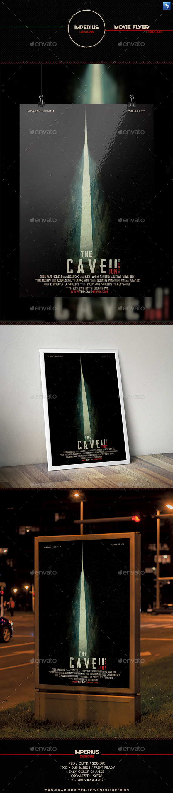 The Cave Movie Flyer - Flyers Print Templates