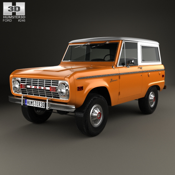 Ford Bronco 1975 - 3DOcean Item for Sale