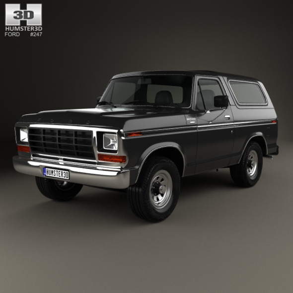 Ford Bronco 1978 - 3DOcean Item for Sale