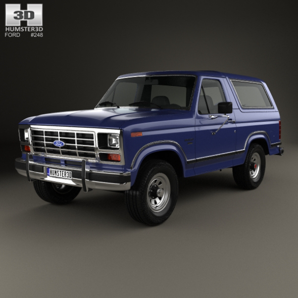 Ford Bronco 1982 - 3DOcean Item for Sale