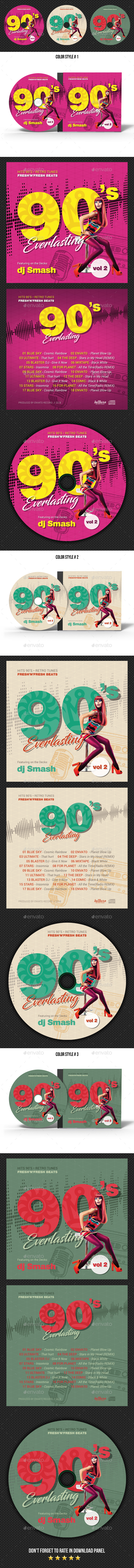 90s Everlasting CD Cover - CD & DVD Artwork Print Templates
