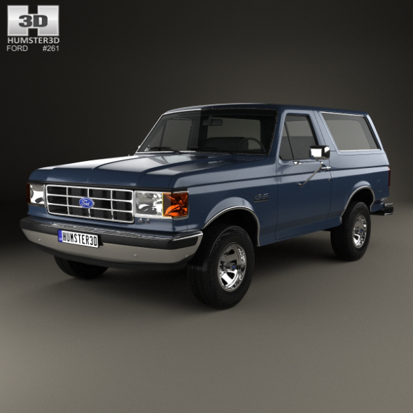 Ford Bronco 1989 - 3DOcean Item for Sale