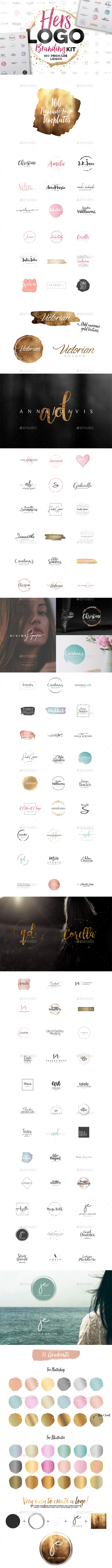 Hers Logo Branding Kit - Badges & Stickers Web Elements