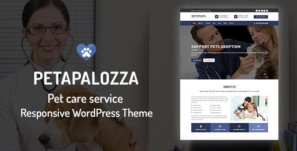 ThemeForest Petapalozza Pet Care Service WordPress Theme 20802803