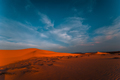 Lonely sand dunes under amazing evening sunset sky - PhotoDune Item for Sale