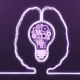 Brain with Bulb Gears - VideoHive Item for Sale