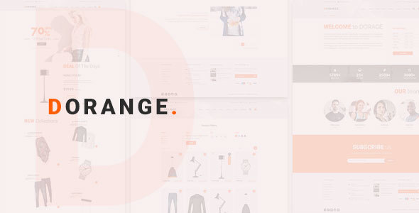 DORANGE Multi Purpose Ecommerce PSD Template