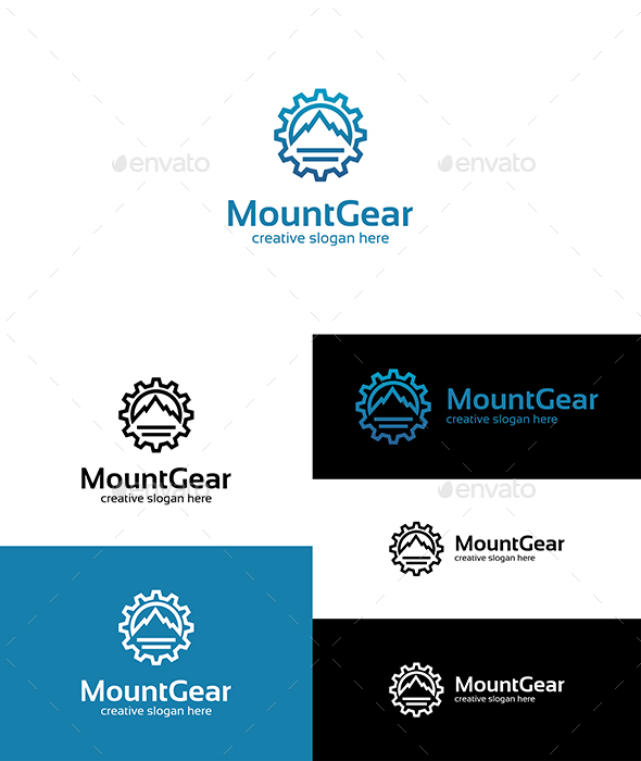 Mountain Gear Logo - Symbols Logo Templates