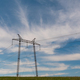 cloudy morning sky and a high-voltage line - PhotoDune Item for Sale