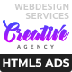 Creative Agency - Web Design Services HTML5 Banner Ad Templates (GWD, GSAP)