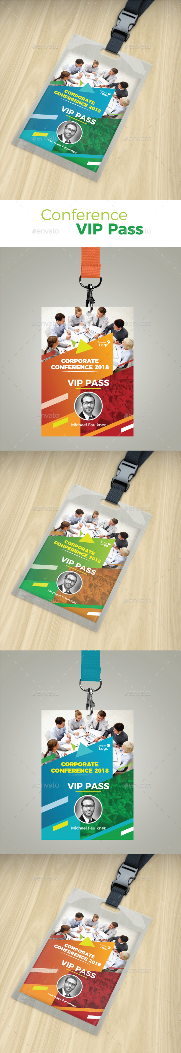 Conference VIP Pass - Miscellaneous Print Templates
