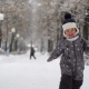 Boy of Two Years Walks in the Park in Winter - VideoHive Item for Sale