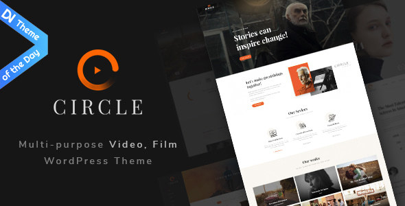 Circle - Multipurpose Film, Video, Blogger, Studio & Agency WordPress theme