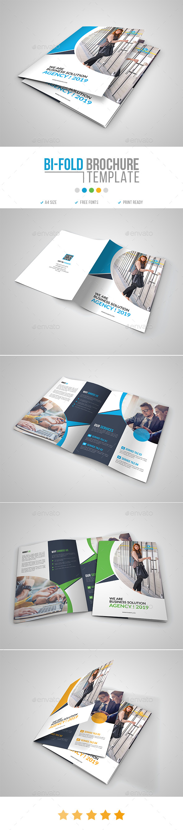 Corporate Bi-Fold Brochure Template 16 - Corporate Brochures