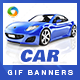 Car Animated GIF Banner Set - GraphicRiver Item for Sale