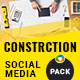 Construction Social Media Pack - GraphicRiver Item for Sale