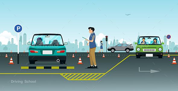 Driving School - Sports/Activity Conceptual