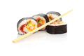 Cut Sushi Rolls and Disposable Chopsticks - PhotoDune Item for Sale