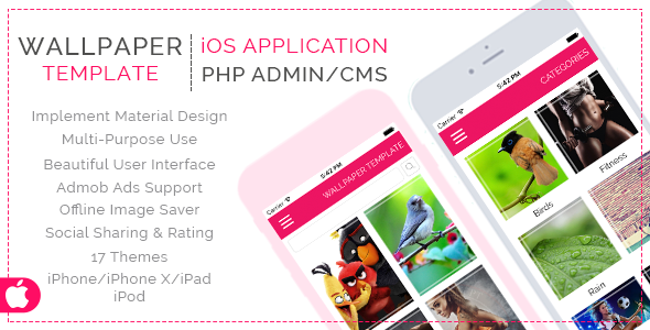 Multi Purpose Wallpaper Template for iOS with PHP CMS Admin Panel - CodeCanyon Item for Sale