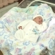 Little Newborn Baby Lying in a Cradle in Hospital - VideoHive Item for Sale