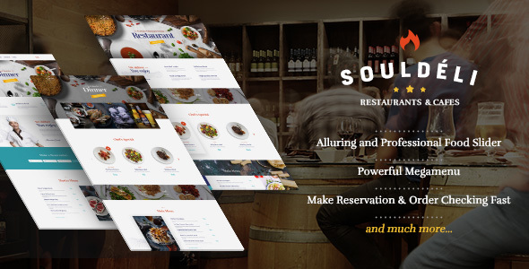 Souldeli - Restaurant and Cafe WordPress Theme