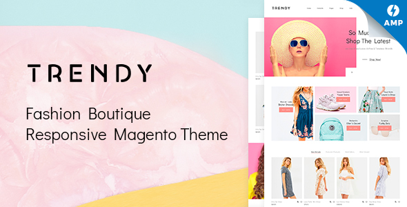 Trendy - AMP Minimal Fashion Boutique Magento Theme