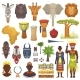 African Culture Vector Characters in Traditional - GraphicRiver Item for Sale