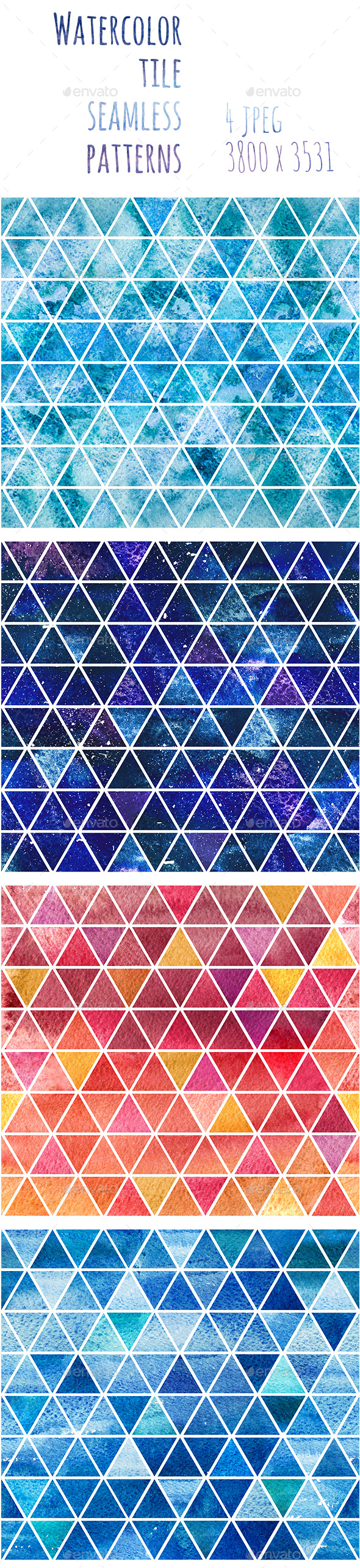 Watercolor Seamless Backgrounds - Patterns Backgrounds