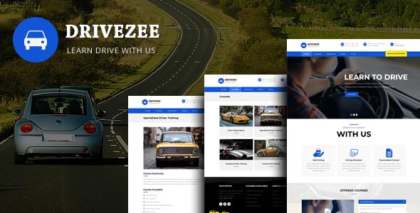 Drivezee -  WordPress Theme for Driving Schools