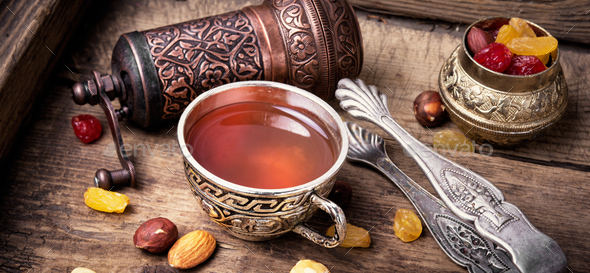 Tea in arab style - Stock Photo - Images