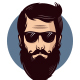 Illustrative Hipster Logo Design