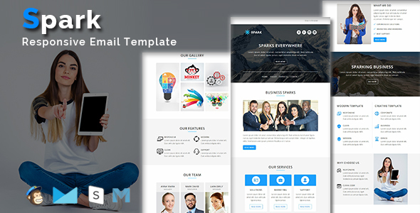 Spark - Multipurpose Responsive Email Template + Stamp Ready Builder Access